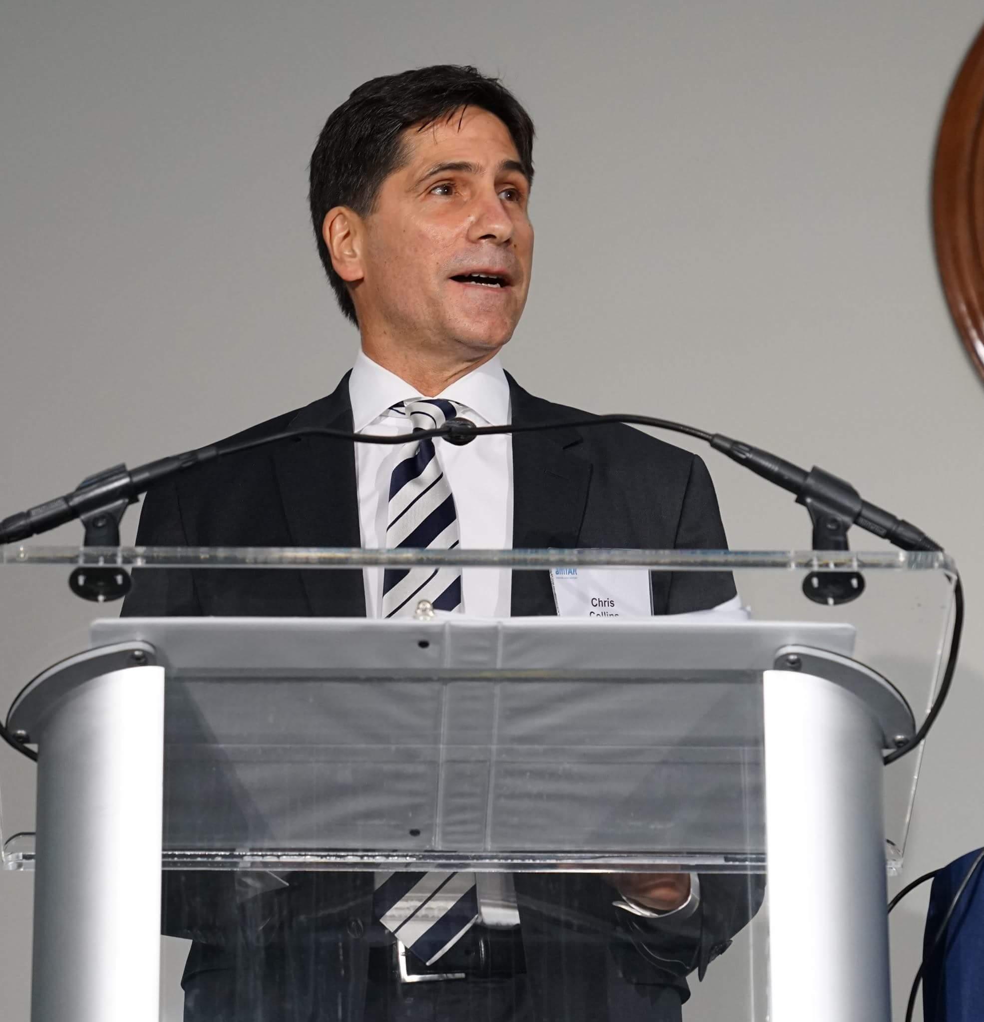 Addressing the amfAR Capitol Hill Conference. (Photo: amfAR)
